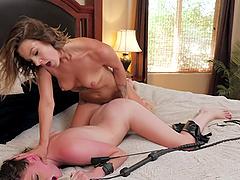 Gorgeous cat women Evelin Stone fucks Jessica Rex with a strapon