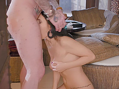 Adorable girlfriend Nelly Kent enjoys getting fucked in her ass