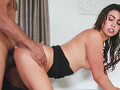 Black man with a giant dick fucks trimmed pussy of Taylor May