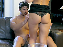 Passionate lovemaking in the evening with handsome Bianca Resa