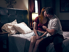 Passionate lovemaking in the evening with seductive Maya Kendrick