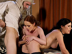 The Witcher parody with sexy models Olive Glass and Ella Hughes
