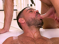 Bisexual threesome with two handsome dudes and adorable Sophia Grace