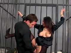 Brunette Bitch Rides Hard Cock