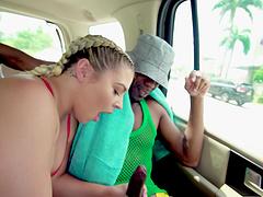 Black man enjoys fucking wet pussy of seductive Rharri Rhound
