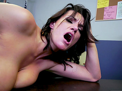Busty MILF Becky Bandini gets fucked hard on the office table