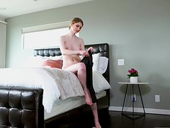 Busty cougar Bunny Colby masturbates and gets fucked by a stud