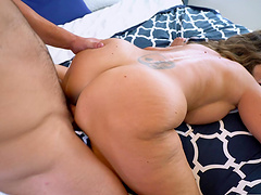 Big butt wife Ava Addams moans while getting fucked on the bed