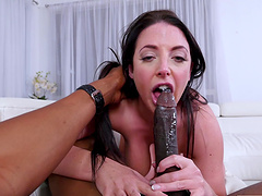 Cock hungry pornstar Angela White fucked in the ass by a BBC