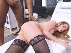 Balls deep anal sex and ass to pussy for desirable Kaisa Nord