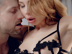 Incredible sex with tied up girl Marilyn Crystal in lingerie