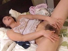 Hairy pussy Japanese girl Hisae Yabe enjoys getting penetrated