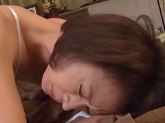 Hairy pussy Japanese girl Hisae Yabe enjoys getting penetrated