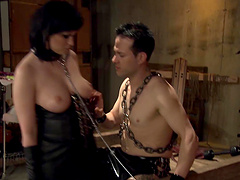 Hardcore torture session with a kinky anal loving brunette