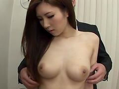 Seductive Japanese model Arisa Aizawa drops her clothes and gives a BJ