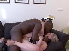 Closeup video of interracial fucking with facial ending for mature Nicol