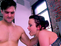 Hot ass models Ginger Red and Heidi Van Horny fucked by one stud