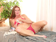 Video of small tits chick Sofie Marie pleasuring her pussy