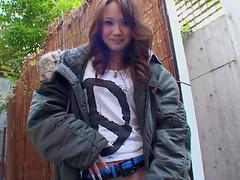 Beautiful Japanese girl Luna wants a creampie ending. HD video