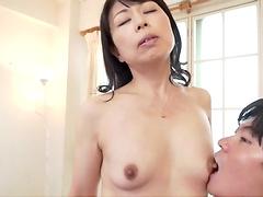 Hardcore fucking on the floor with small tits chick Shibasaki Misato