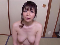 Natural tits cutie enjoys getting fucked from behind on the bed