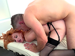 Redhead wife Lacy Lennon gets her pussy fucked balls deep
