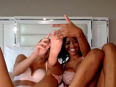 September Reign and Emma Hix enjoy playing with their pussies