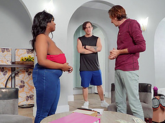 Hardcore interracial fucking with fat ebony model Barbie Crystal