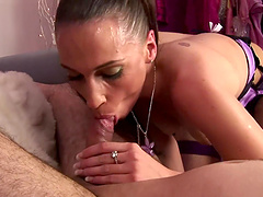 Cum in mouth ending after passionate fucking with sexy Tammie Lee