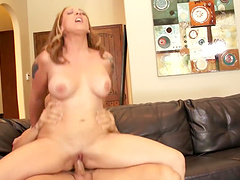 Closeup video of smooth fucking with natural boobs GF Serena Marcus