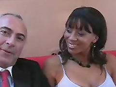 Busty Black Slut Chelsea Lets Old Jim Nail All Tasty Wet Holes