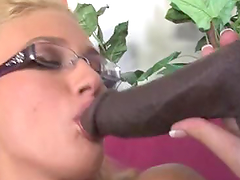 Horny Blonde Gets All Holes Banged by Black Monster Cocks