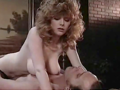 Horny Blonde Sucks Dick and Gets Fucked in Retro Porn Clip