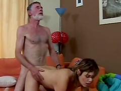 Teen Slut Fucking A Horny Old Man
