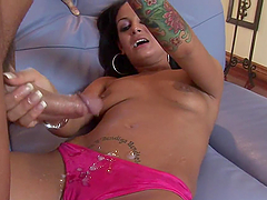An Amazing POV Handjob With The Hot Angelina Valentine