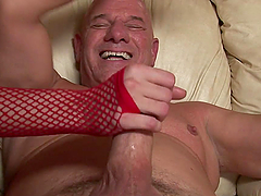 Sexy Babe In A Santa Outfit Fucks And Old Man
