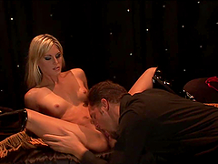 Eating and Banging a Blonde Babe with Small Tits Pussy