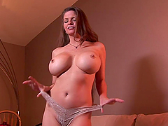 Busty MILF with Huge Round Tits Riding and Sucking a Hard Dick