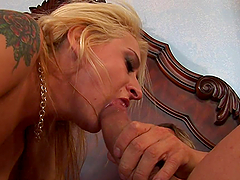 Anal Banging and Facial Cumshot for Blonde Babe with Shaved Pussy
