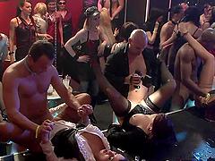 A Wild Orgy Inside A Club With Sluts