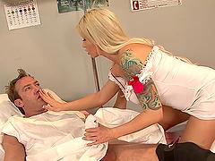 Horny Nurse Rides A Patient's Big Cock