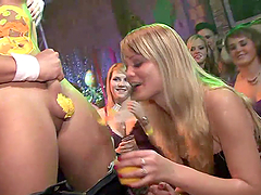 Naughty Ladies Have Fun With Strippers