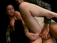 Rough Sex For A Slutty Brunette In Love With Big Cocks