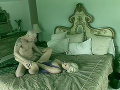 Hot Sex On A King Size Bed With A Blonde Babe