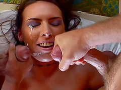 A Sticky Creampie For A Slut In A Threesome
