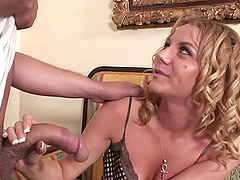 Kinky Blonde Mom Is Drilled By A Long Cock