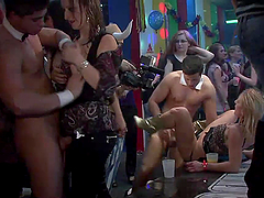 Sexy Ladies Get Carried Away In A Party After Being Drunk