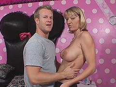 Sexy Milf Rides A Big Hard Cock On Camera