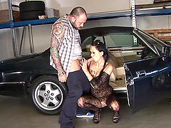 Mechanical Shop Sex With A Hot Brunette