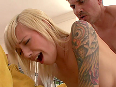 Naughty Blonde Teen Rides A Chunky Cock